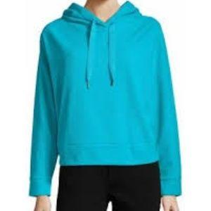 Xersion   Brushed Fleece Crop Pullover Hoodie New